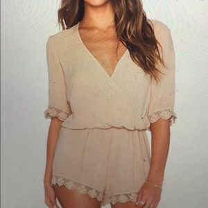 Other - blue life 3/4 boho sleeve romper